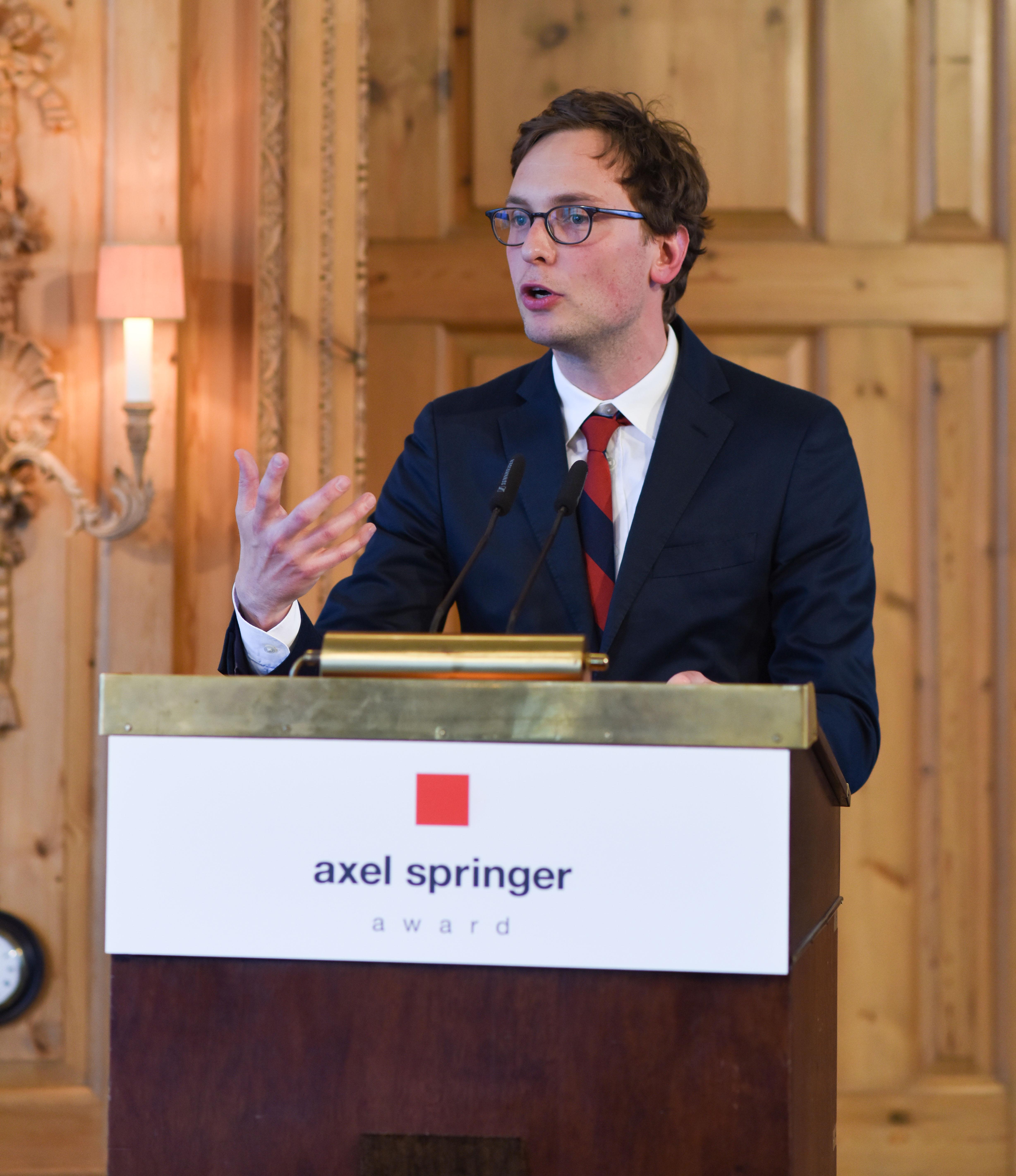 Berlin, 2.5.2017 Verleihung des Axel-Springer Award an Sir Tim Bernes-Lee. Unter den Gästen: Festredner Prof Sascha Friesike