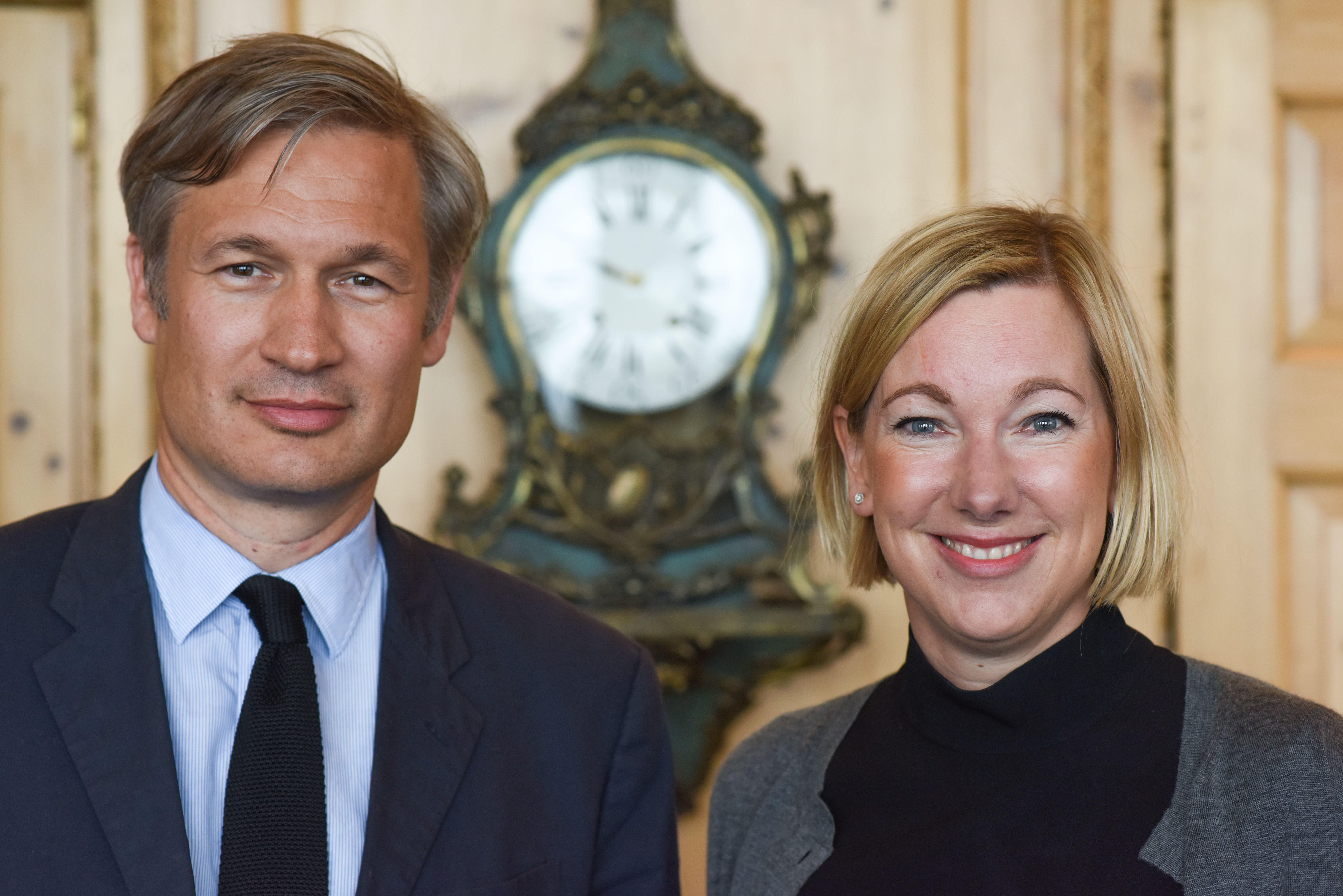 Berlin, 2.5.2017 Verleihung des Axel-Springer Award an Sir Tim Bernes-Lee. Unter den Gästen: Ulf Poschardt und Stefanie Caspar